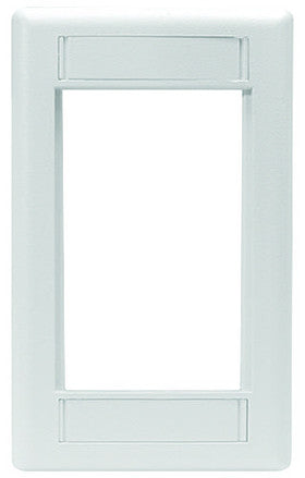 Hubbell Premise Wiring Phone Component INFINe StationModular Plate Frame, 1-Gang, White