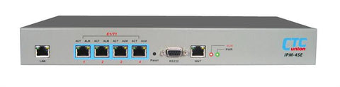 Four E1/T1 over IP/Ethernet extender - TDMoverIP - redundant AC and DC48V power supplies