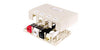Hubbell Premise Wiring Housing Surface Mount ,2port, Electric Ivory