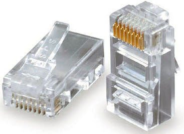 RJ-45 for 24AWG Solid Cable - Pack of 100