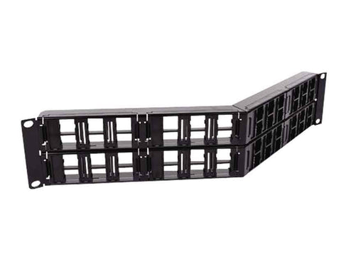 CommScope M2000 U/UTP Modular Panel 2U, 48 port angled, For Fiber or Copper