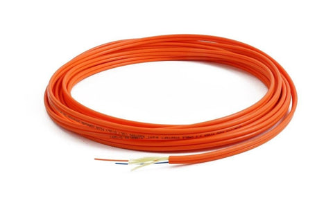 TLC 3.0mm 50/125µm ClearCurve OM2 Multimode Duplex Cable - Orange Color - Plenum Rated