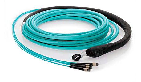 48 fiber, 50µm OM3 10Gig Fiber, (4x) MTP/male - (4x) MTP/male, Plenum - MTP Backbone Trunk Cable