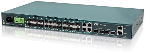 MSW-4424C - Gigabit Ethernet 24 SFP ports with 4 10G SFP+ ports, Layer 2 managed switch, dual redundant AC and DC48 power, rack 19""