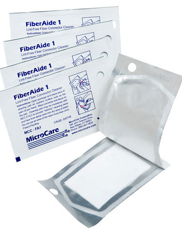 Microcare FiberWipes High-Purity Polyester Wipe - Bag of 50 Wipes