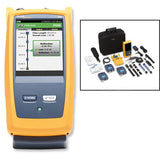 Multimode OTDR for troubleshooting and extended certification, includes fiber inspection kit