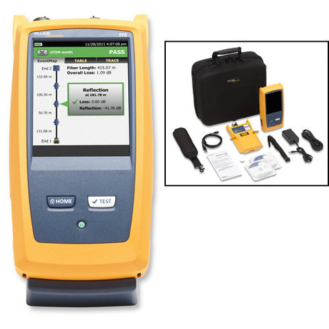 Multimode OTDR for troubleshooting and extended certification
