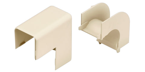 Office Furniture Raceway Outside Corner Fitting, Medium tone