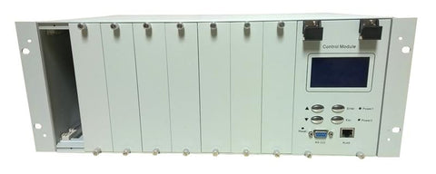 "OLPS-4RM-DD  Optical Line Protection System 8 slot chassis with dual power and network management options, rack 19"", 4RU"