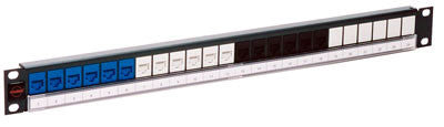 Molex PowerCat 1U 24 Port Multimedia Patch Panel, Unloaded