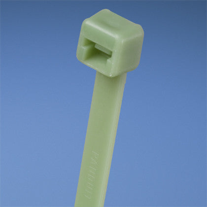 "Cable Tie, 3.9 in., Miniature cross section, 87"" Bundle, Green, 1000/pk"