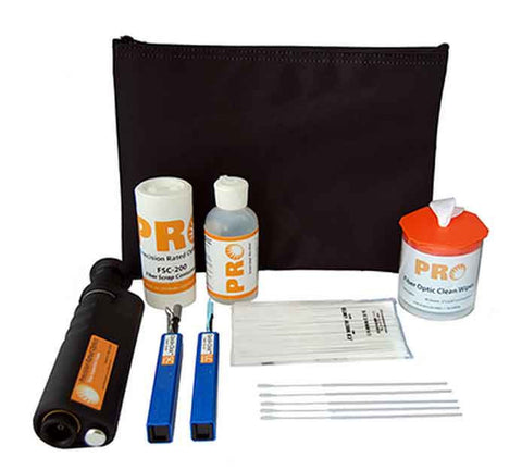 Fiber Optic Cleaning Kit w/ x400 Scope