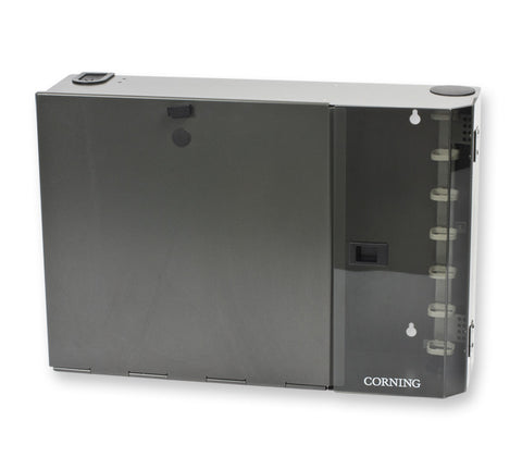 Corning PWH-06P 36/48/72-Fiber Wall Mount Housing Pretium - Takes 6 CCH Connector Panels or Modules