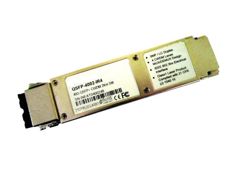 QSFP-4002-IR4 QSFP+ 40G IR4 optical module, single-mode, CWDM 4 aggregate 10G channels, 2Km