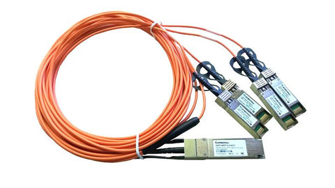 QSFP-4SFP10-03AOC QSFP+ 40G to 4 SFP+ 10G quad fan-out active optical cable AOC 3m length