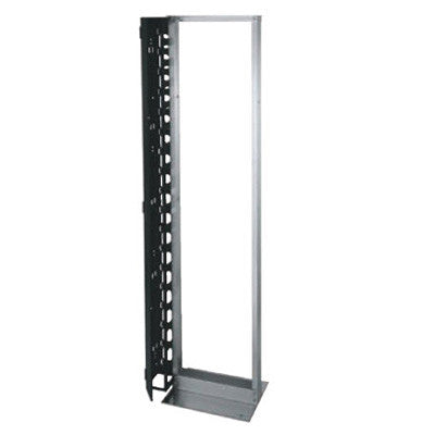 "45RU x 19""W Floor Mount 2 Post, Silver"
