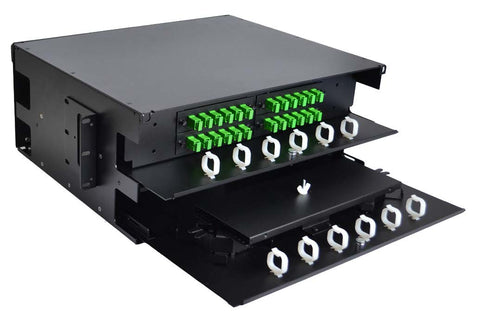 4RU Patch and Splice Panel - Dual Sliding Tray (Unloaded)