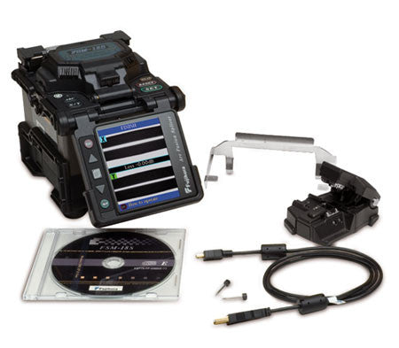 AFL FSM-18S Fusion Splicer Kit Plus CT-30A Cleaver, BTR-08 Battery, and DCC-14 Charge Cord
