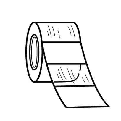 "Replacement roll. White write-on, 1.00""W X 1.25""L vinyl label, 200/roll"
