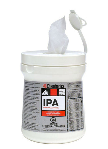 Chemtronics IPA Pre-Saturated Wipes (100 wipes) - GROUND SHIPPING ONLY
