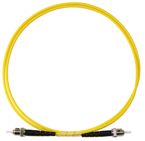 1m ST-ST Simplex 8.3/125µm single mode patch cord, UPC polish
