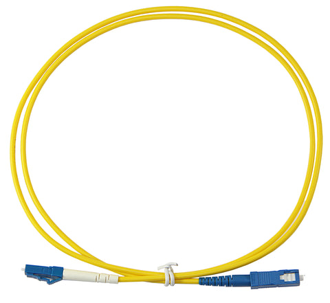 1m LC-SC Simplex 8.3/125µm single mode patch cord, UPC polish