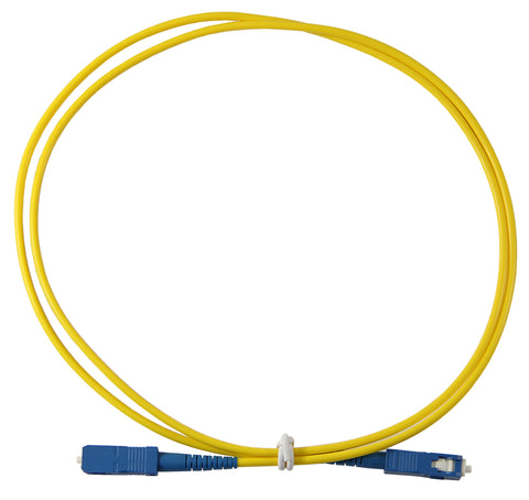 1m SC-SC Simplex 8.3/125µm single mode patch cord, UPC polish