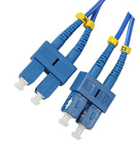 1m SC-SC duplex 9/125µm Corning ClearCurve single mode bend insensitive fiber optic patch cable