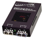 Gigabit Ethernet or 1 Gig Fibre Channel Stand-Alone Media Converters, 1000Base-SX,850nm