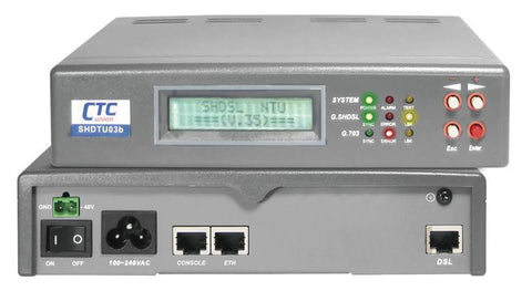 SHDTU03bA-31T-AD LAN and T1 Extender 2 or 4 wire operation G.SHDSL.bis modem with AC and DC48 power