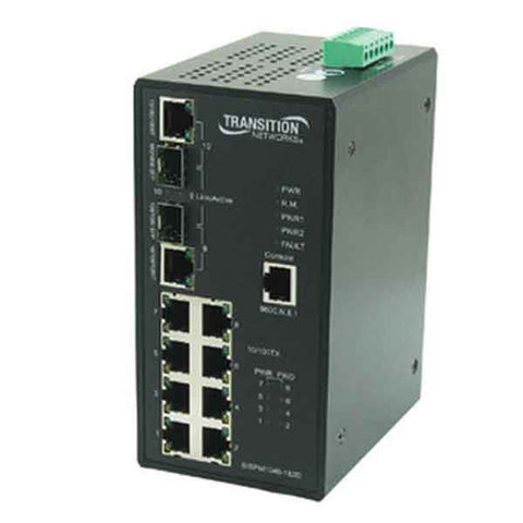 8-port 10/100/1000BASE-T industrial rated switch