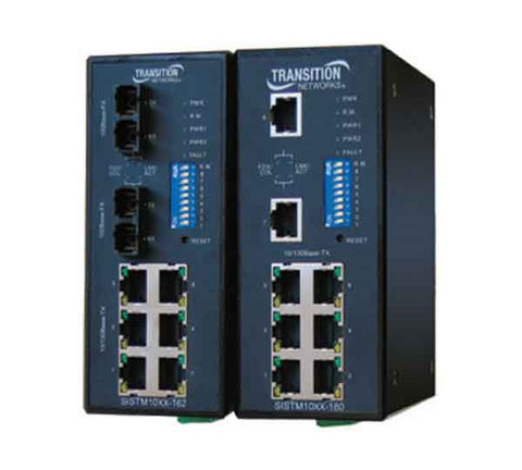 (6) 10/100 Managed Industrial Switches (extended temperature), MM, SC, 2KM