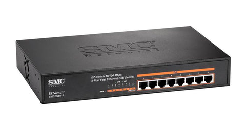 SMCFS801P Fast Ethernet 8 ports high power (up to 30W per port) PoE enabled switch