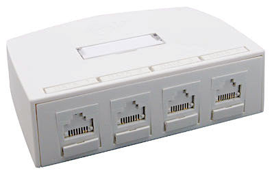 Synergy Series 4 Port Surface Box, Mfr Molex