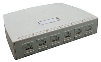 Synergy Series 6 Port Surface Box, Mfr Molex