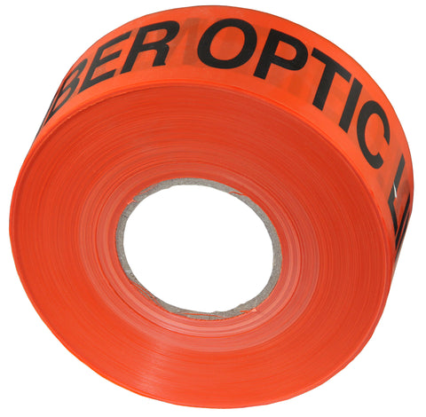 "Non-Detectable Buried Fiber Optic Cable Marker Tape - 3"" x 1000'"