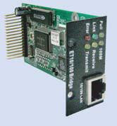 10/100 Ethernet bridge module for TTU01 T1 acces unit