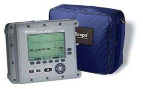 TEMPO CableScout TV220 TDR Cable Tester, Dual Trace, 1, 5 & 25ns Pulse Widths, Trace Storage/Downloa