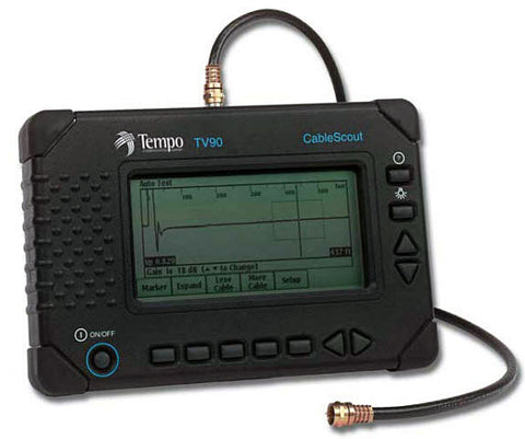 TEMPO TV90 CableScout Copper TDR Cable Tester, 6 & 12ns pulse widths