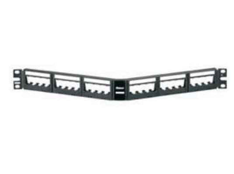 Ultimate ID Modular Angled Patch Panels, 24-port, 1-rack