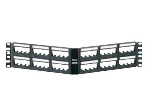 Ultimate ID Modular Angled Patch Panels, 48-port, 2-rack