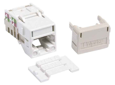 1-Port Mod Jack 8W8P 110 T568A/B CAT6A IP10, White