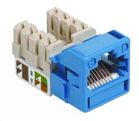 1-Port Mod Jack 8W8P 110 T568A/B CAT5e IP1, Blue