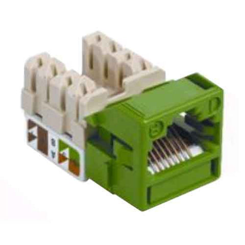 1-Port Mod Jack 8W8P 110 T568A/B CAT5e IP1, Green