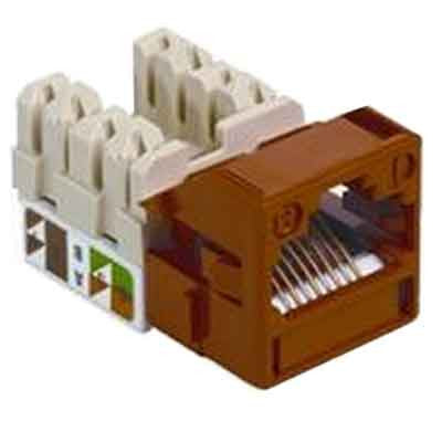 1-Port Mod Jack 8W8P 110 T568A/B CAT5e IP1, Orange