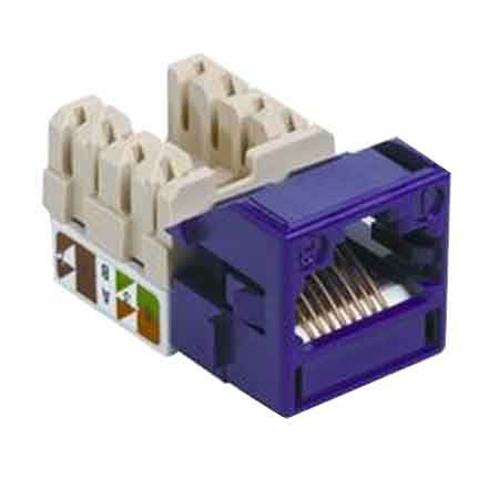 1-Port Mod Jack 8W8P 110 T568A/B CAT5e IP1, Violet