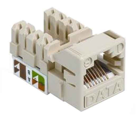 1-Port Mod Jack 8W8P 110 T568A/B CAT5e IP1, White
