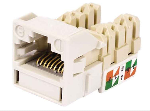 1-Port Mod Jack 8W8P 110 T568A/B CAT6 IP5, Cream