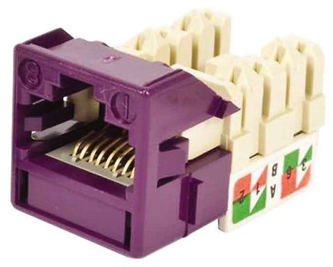 1-Port Mod Jack 8W8P 110 T568A/B CAT6 IP5, Violet