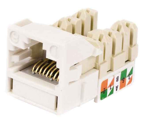1-Port Mod Jack 8W8P 110 T568A/B CAT6 IP5, White